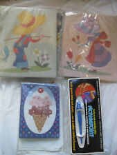 Lot 3~Vintage~PicturePoint Craft Kit~New w/tool & yarn~Boy Girl Ice Cream~Lbdal