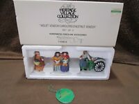 Dept 56 Violet Vendor / Carolers / Chestnut Vendor  Heritage Village Collection