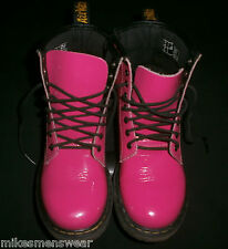 GENUINE DR MARTENS HOT PINK DELANEY *SIZE UK 13 - SIDE ZIP AND LACE UP - EXCOND