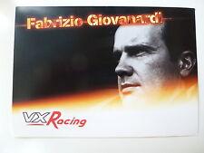 FABRIZIO GIOVANARDI VX Racing British Touring Car Championship photocard