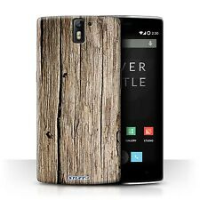 STUFF4 Phone Case for OnePlus Smartphone/Wood Grain Effect/Pattern/Cover