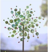 Wind Spinner Green Peacock Kinetic Sculpture Yard Garden Decor Modern Art Metal