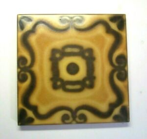 "Italy 1960s Terracotta 7-7/8"" Satin Coffee Mocha Brown 1 Porcelain Floor Tile"