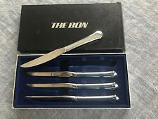 Vintage THE BON Towle Stainless Steel Steak Knives Set of 4