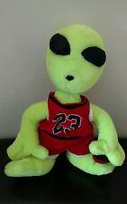 "18"" ALIEN Plush Michael Jordan #23 Jersey Chicago Bulls Color Doll Space Jam Str"