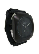 Nixon A118 001 The Volta Men's Round Black Analog Date Silicone Watch