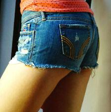 Damen Jeans Kurze Hose kurz hosen hotpants Hüftjeans Shorts Hose Denim B031