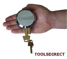 Heavy Duty 73mm Round Concealed Padlock Shutter Gate Door Van Replacement Lock