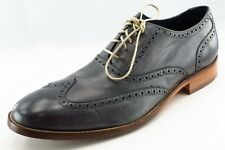 Cole Haan Shoes Sz 13 M Almond Toe Gray Wingtip Oxfords Leather Men