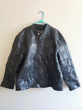 BKE Buckle Mens Black Faux Leather Jacket Coat Regular Fit Size Large XXL