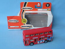 Matchbox MB-17 Titan Bus Union Jack Tours London Tourist Double Decker Toy 75mm