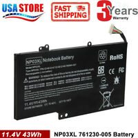 NP03XL for HP ENVY X360 15-U011DX Battery 43WH 761230-005 HSTNN-LB6L TOP Quality