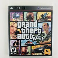 Grand Theft Auto V 5 (Sony Playstation 3 PS3, 2013, NTSC) Includes Map/Manual