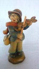 """Anri Ltd Ed 1091/2250 Ferrandiz 6.25"""" Merry Melody Boy Wood Carving Figurine"""
