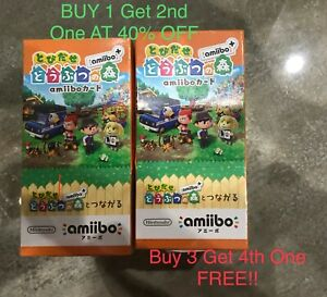 Authentic Animal Crossing Japan Version Welcome Amiibo New Leaf RV Series Cards