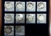 10x Medaille Einigkeit und Recht und Freiheit 999 Silber mit Zertifikat