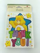 Care Bears American Greetings Thank You! Cards Pack of 10 New 2003