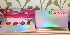 2 DIOR ADDICT Hydra-Gel Mirror Shine Lipstick 4 samples Be Dior, Wonderful,Smile