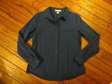 Coldwater Creek Deep Blue No Iron Blouse       Size XS
