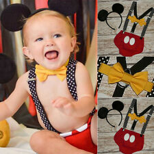 Mickey Mouse Baby Girl Boy Minnie Dress Romper Birthday Photography Prop Costume