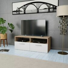 vidaXL TV Cabinet Chipboard 95x35x36cm Oak and White Home Storage Unit Stand