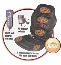 HEATED BACK SEAT MASSAGE CUSHION CHAIR MASSAGE OFFICE HOME RELAX STRESS ETC NEW