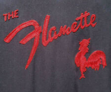 """New listing 1950s """"The Flamette"""" Duluth Bowling Shirt/Vtg Chain Stitched Swingster/Rooster"""
