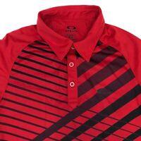 Oakley O'hydrolix Golf Polo Shirt Men's Small Short Sleeve Red Regular Fit Poly