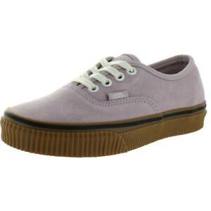 Vans Mens Authentic Purple Suede Fashion Sneakers Shoes 3.5 Medium (D) BHFO 8348