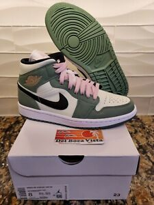 NIKE AIR JORDAN 1 MID DUTCH GREEN MENS SIZE 6.5 / WOMENS SIZE 8 CZ0774-300