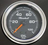 "Marshall Comp II 3013 Mecanical Oil Pressure Gauge 2 5/8"" Black Dial 0-100 PSI"