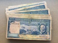 PORTUGUESE ANGOLA - 1962 1000 Escudos FINE - 100+ PIECES LOT