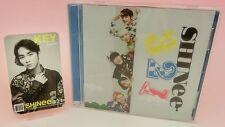 SHINee CD+DVD+Photo Card Japan 1st Limited Edition 3 2 1 Key