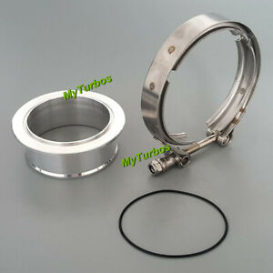 """for S400 S400SX S400XSE S500 Turbo Compressor 4.21"""" V-Band Clamp+Aluminum Flange"""