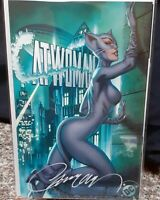 🔥🐈 CATWOMAN 80th ANNIVERSARY J SCOTT CAMPBELL 🖊 Signed Cvr F Year One 1200 NM