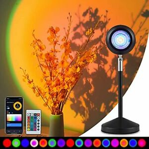 Sunset Projection Lamp 16 Color Changing Projection Led Light Rainbow 360 Degree