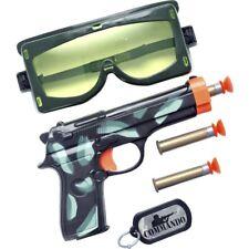 Ejército Militar Set Plástico Pistola Balas Gafas Etiquetas de Perro