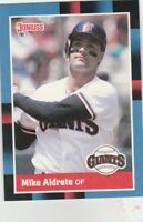 FREE SHIPPING-MINT-1988 Donruss San Francisco Giants Baseball #362 Mike Aldrete