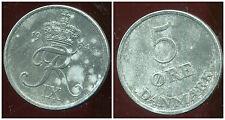 danemark  5 ore 1964  ( zinc )