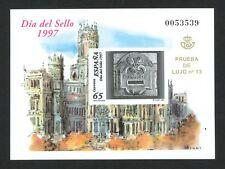 ESPAÑA 1997 - PRUEBA DE LUJO OFICIAL Nº 62 - DÍA DEL SELLO 1997