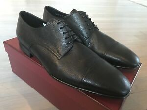 650$ Bally Branton Black Laces Up Shoes Size US 12 Made in Switzerland