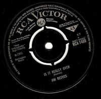 """JIM REEVES Is It Really Over 7"""" Single Vinyl Record RCA Victor 1965"""