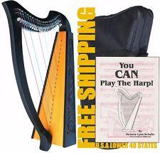 DEURA 22 STRINGS LEVERS HARP + BAG + BOOK Irish Celtic Lap Folk MA-1030BK FRSHIP