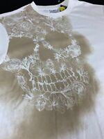 Daniel CREMIEUX Skull Logo T Shirt - White TEE - Large - NEW
