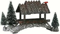Lemax 14618 WOODEN BRIDGE WITH TREES Christmas Village Retired Accessory I