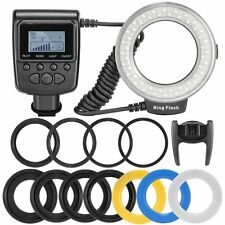 Neewer 48 Macro LED Ring Flash Light Includes 4 Diffusers (Clear, Warming, Blue,