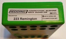 56111 REDDING COMPETITION BUSHING NECK SIZING DIE - 223 REMINGTON - BRAND NEW