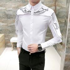Men Gothic Steampunk Shirt Silk Satin Leisure Formal Victorian Long Sleeve Tops