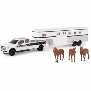 NEW John Deere Big Roads Ford F-350 Pickup w/Horse Trailer & Horses, 1/32, 70553