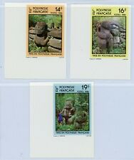French Polynesia 1984 Marquesian Tikis Imperforate Set MNH X411
